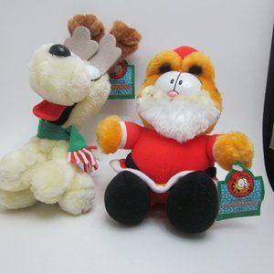 Garfield and Odie Christmas plushes